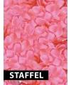 Voordeelpakketje roze rozenblaadjes